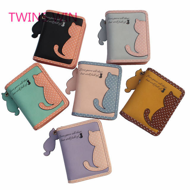 mexican 2019 new product ideas oem custom cartoon fancy colorful short leather wallets bag for girls 092