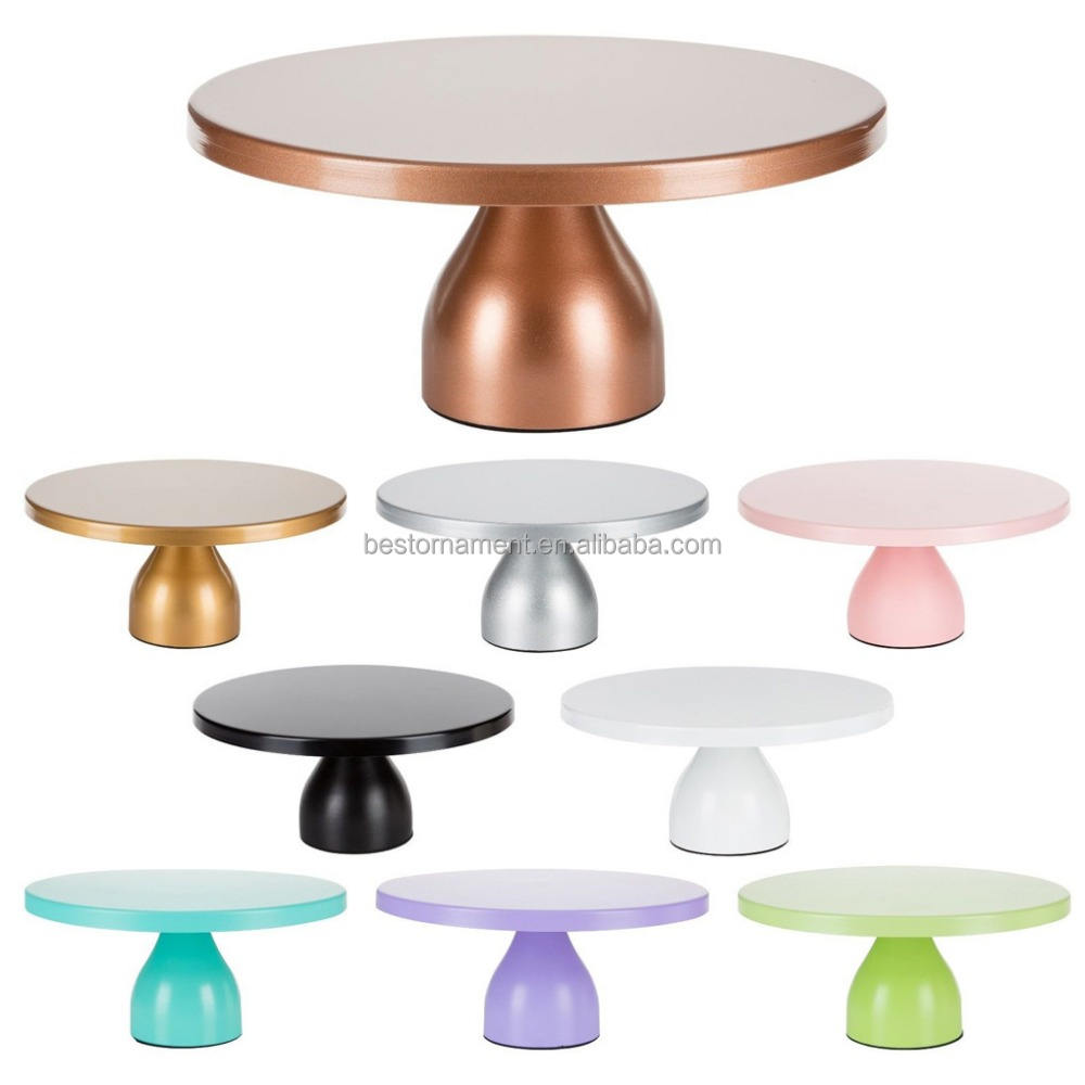"12"" Round Metal Wedding Cake Stand"