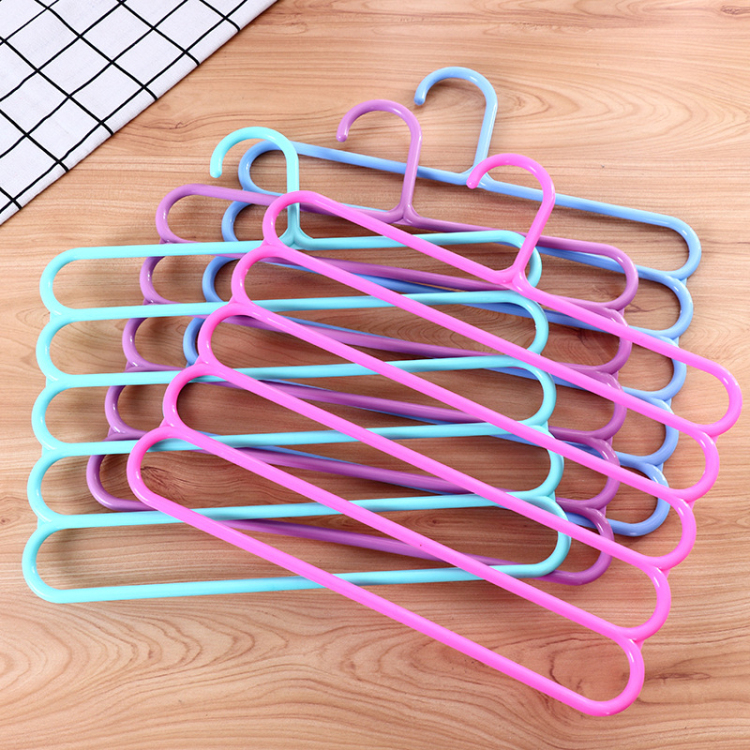 Creative Multi-functional Wardrobe 5 Layer Pants Rack Dazzle Color Hanger Scarf