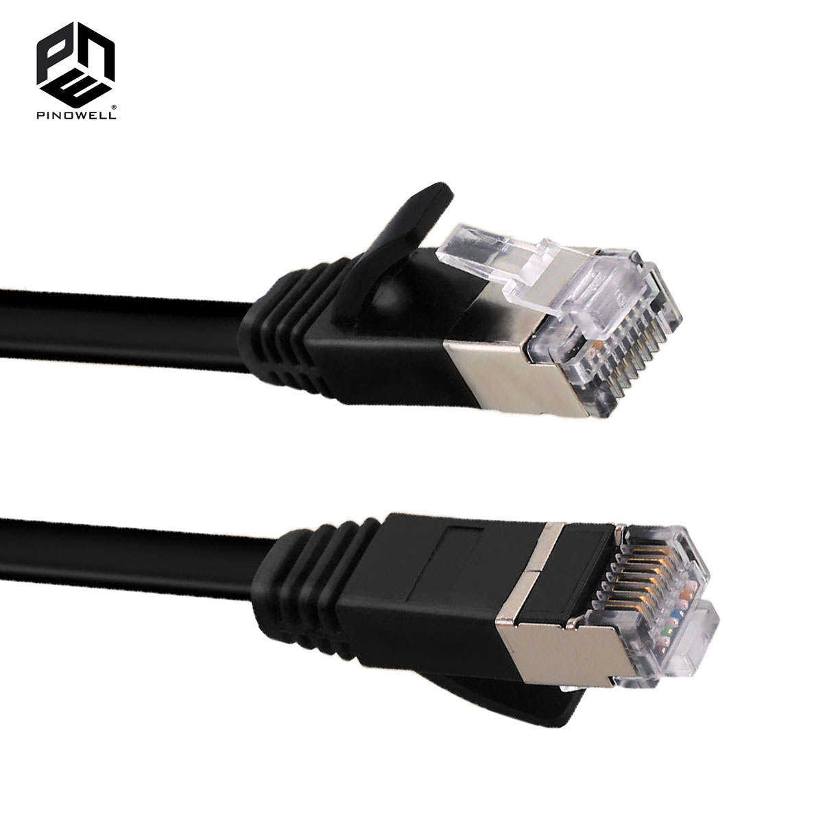 3M 10FT CAT 7 Black STP Flat LAN Direct Ethernet Network Cable Shielded 32AWG