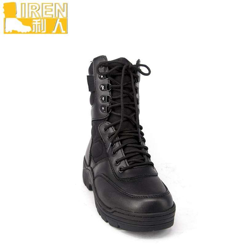 Professional style full grain leather military boots made in China