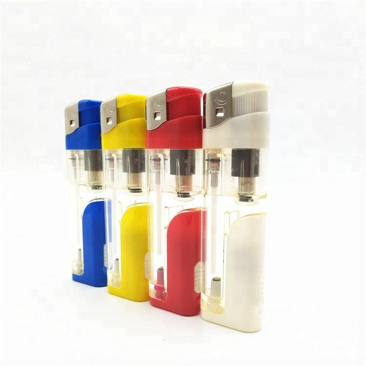 Cheap custom lighter disposable electric LED lighter