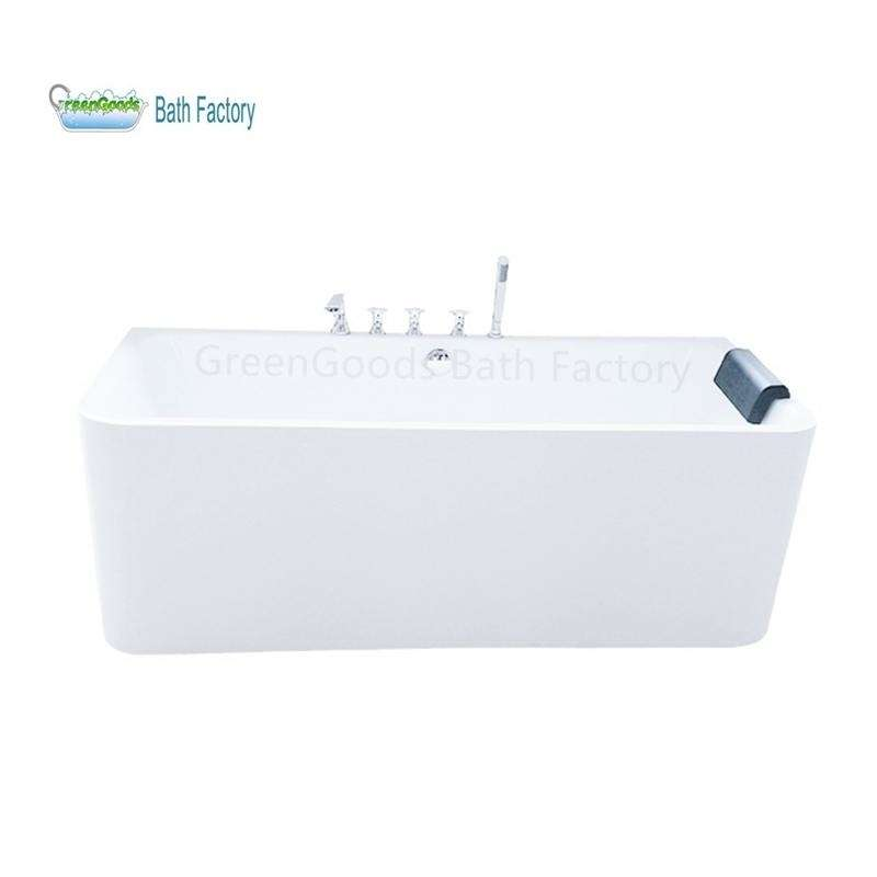 Japanese Rectangular Freestanding Massage Hydrotherapy Bathtub Control Panel