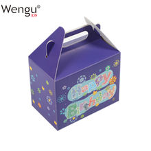 Factory Promotional  Recyclable Customized Handmade Gift Art Cardboard Box For Happy Birthday