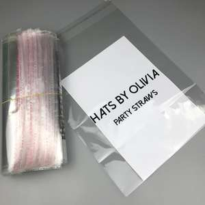 Opp Bags/custom Self Adhesive Sealing Tape Bags Plastic Cellophane Header Printed Opp Bopp Bag Packing