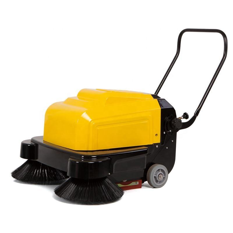 P100A Electric hand push pavement sweeper with optional water tank