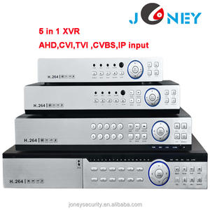 DVR híbrida XVR con dispositivos antimanipulación CVI TVI CVBS Entrada IP 16 canales 4MP DVR