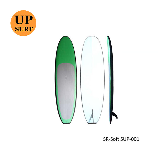 Factory price Soft Surf boards Fiberglass softboard Surfboards Green soft top sup