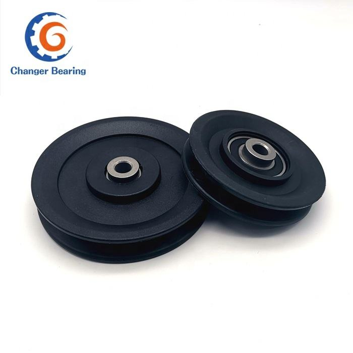 plastic nylon gym pulley with bearing OD 3.5 inch 90mm gym pulley