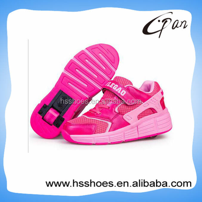 Fashion one wheel skating shoes for kids