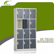 12 door used school locker/ steel locker cabinet/metal clothes locker