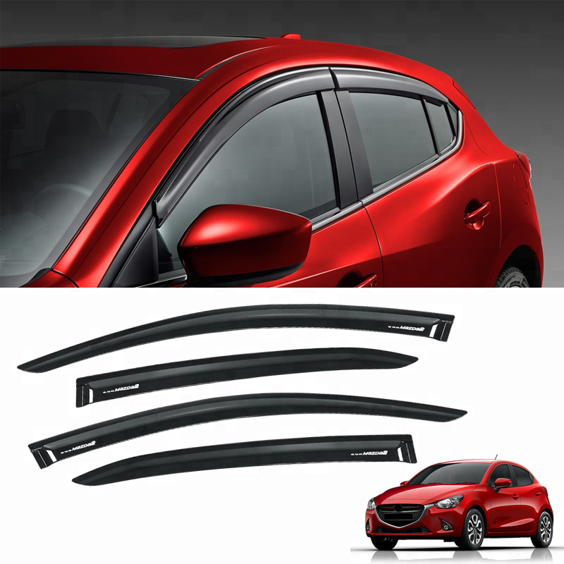 Injection Side Window Deflectors car window wind visor for mazda2