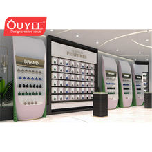 Retail Cosmetic Wood Display Perfume Shop Store Display Fitting Interior Design Museum Furniture