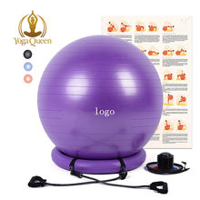 Exercise Ball with  Resistance Bands,Stability Ball Chair /Yoga Balance Stability Exercise Fitness Ball