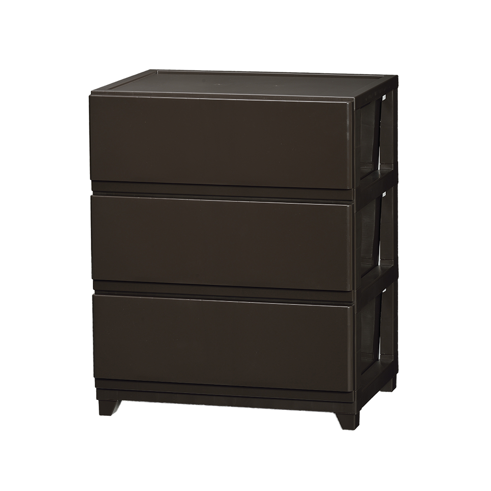 Wide Type Plastic Mini 3 Drawer Chest With 5 Colors