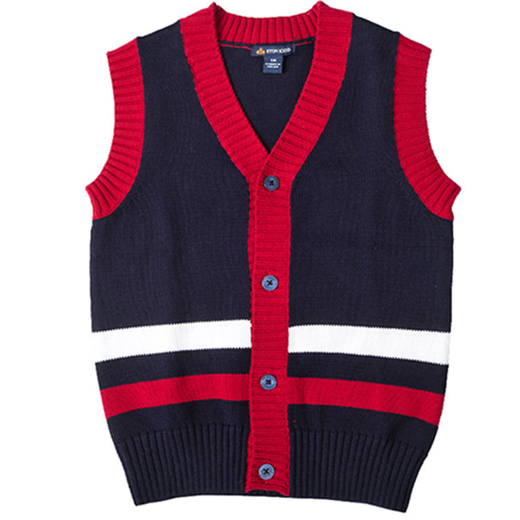 kid's sweater vest school uniform wool sweater vest