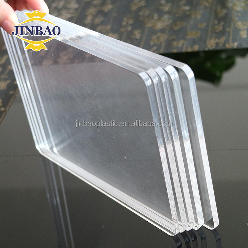 "JINBAO china supplier plastic sheet 2"" thick clear cast acrylic sheet plexiglass price"