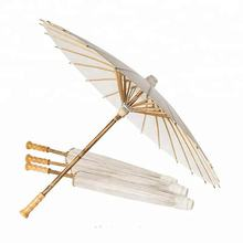 Wholesale High Quality Handmade Indian oil Paper Bamboo Parasols Graffiti paper umbrella