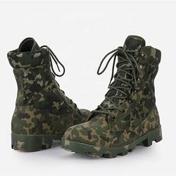 New Design Men Micro Fiber Genuine Leather Combat Army Military Boots For Sale