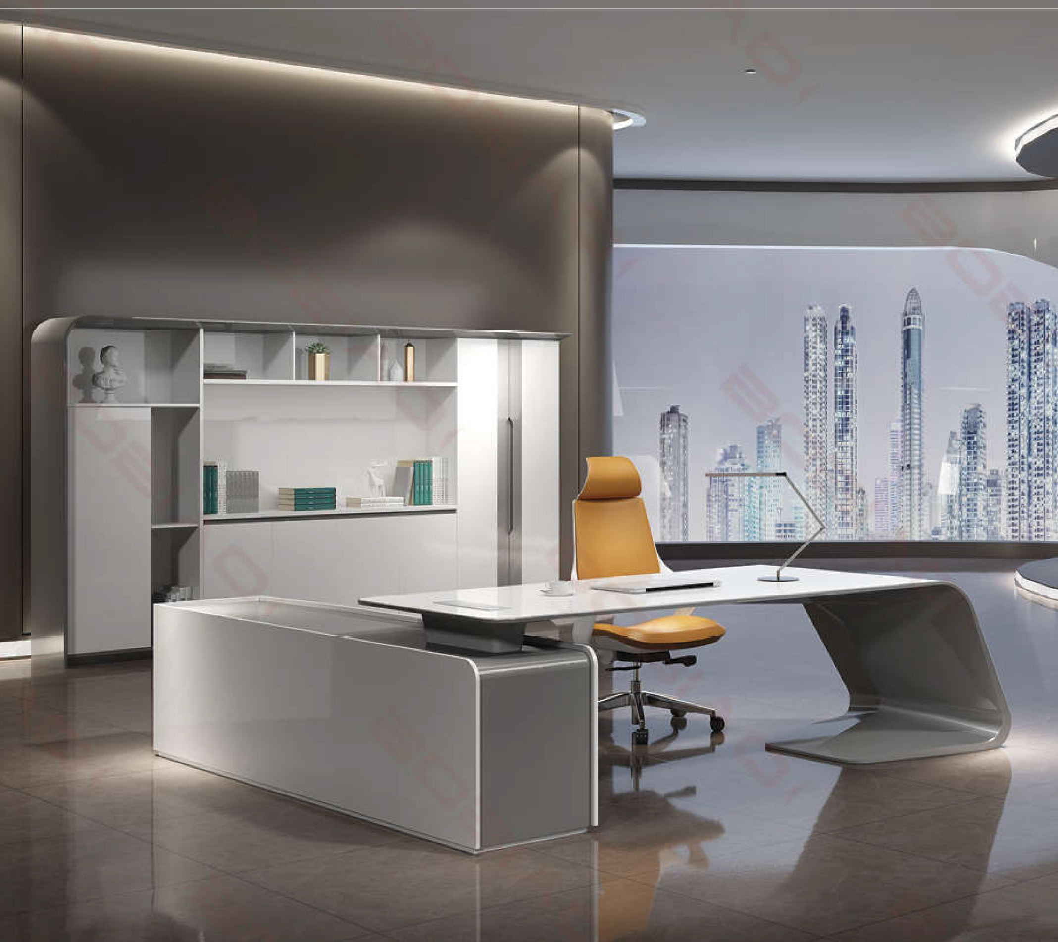 luxury ceo manager executive modern office desk for office funiture for one people BG-9968