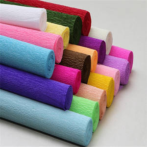 Hot double sides gift wrapping crepe paper in roll wholesales eco-friendly handmade crepe paper