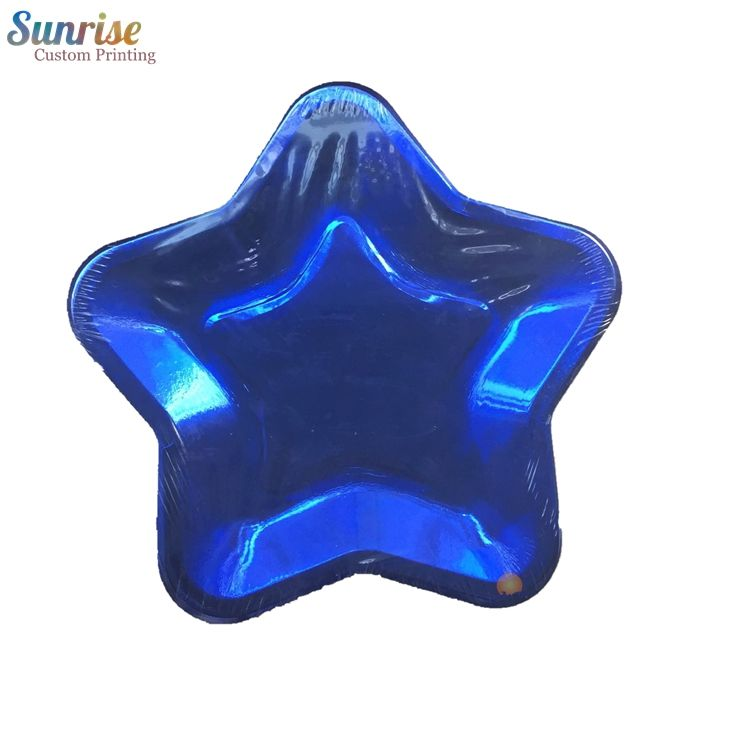 Disposable [ Plate ] Paper Plates Factory Special Star Shaped Disposable Paper Plate