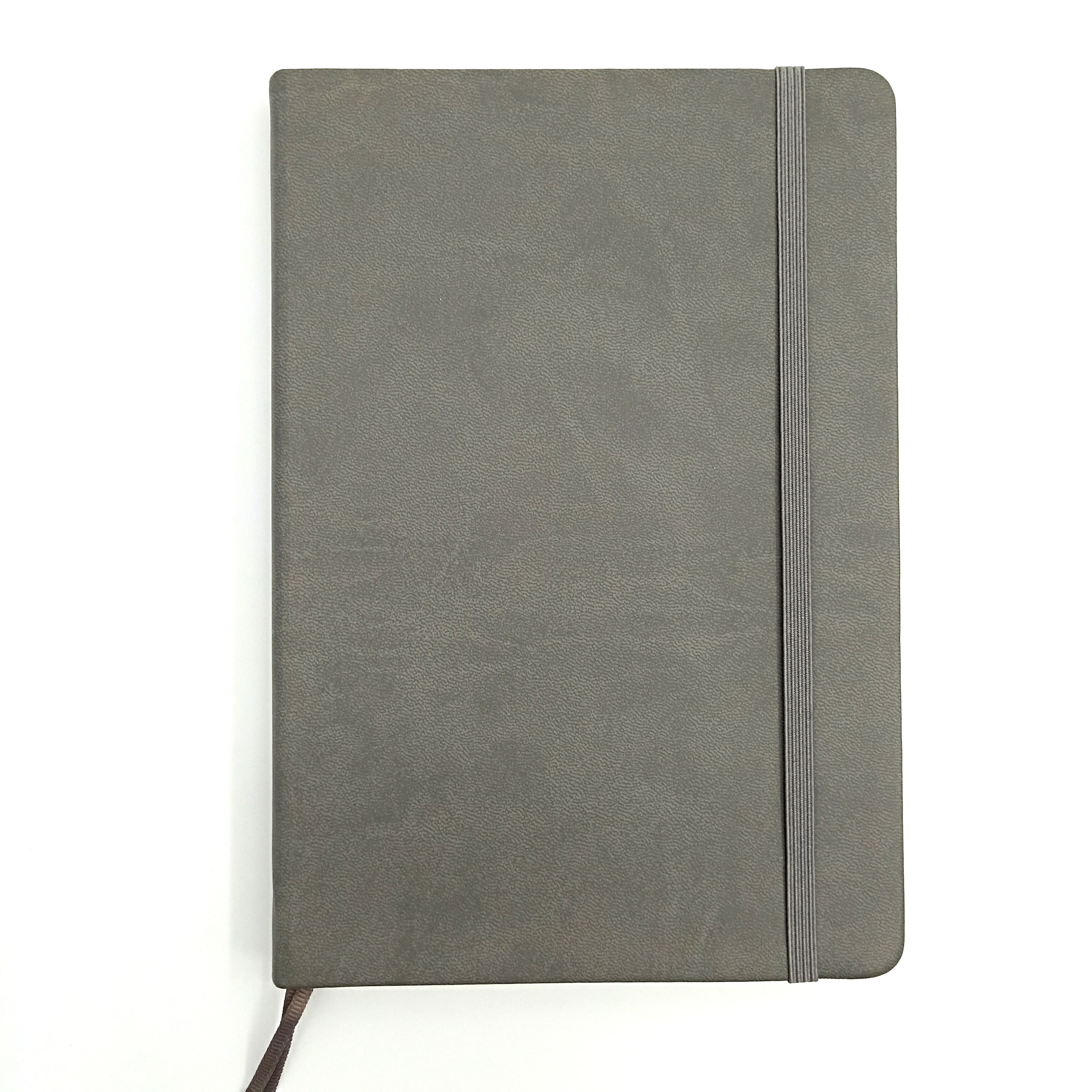 gray saffiano leather agenda/ man meeting leather planner binder low minimum order