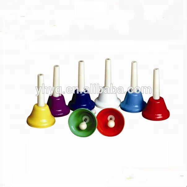 Children Kids Toy Percussion Musical Hand Bells Set/8 Notes Colors