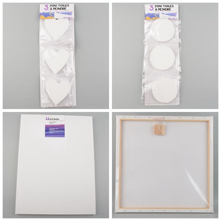 Blank painting canvas stretched canvas for oil painting canvas paper
