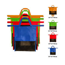 Kaiguang Non Woven Foldable Supermarket Cart Trolley Shopping Bag with Insulation cooler bag