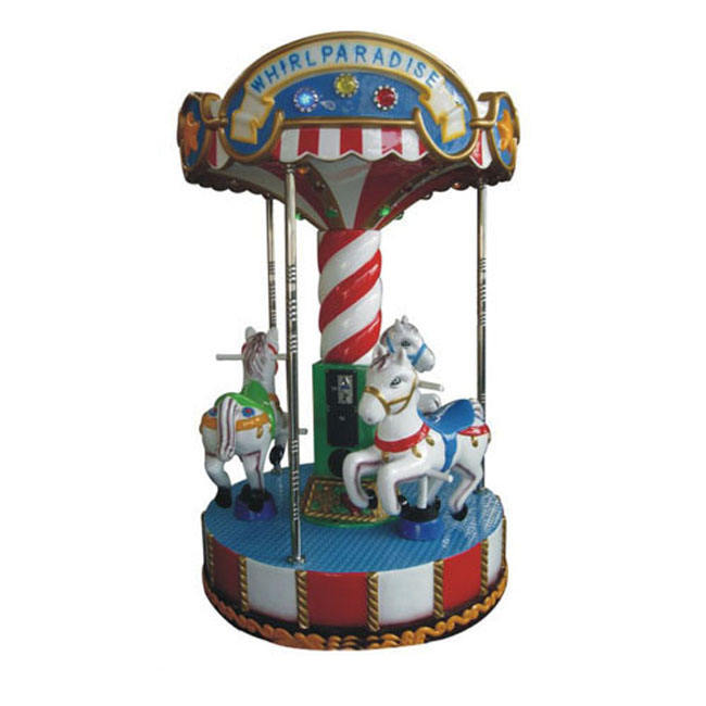 Indoor family design electric horse carousel mini carousel rides for sale