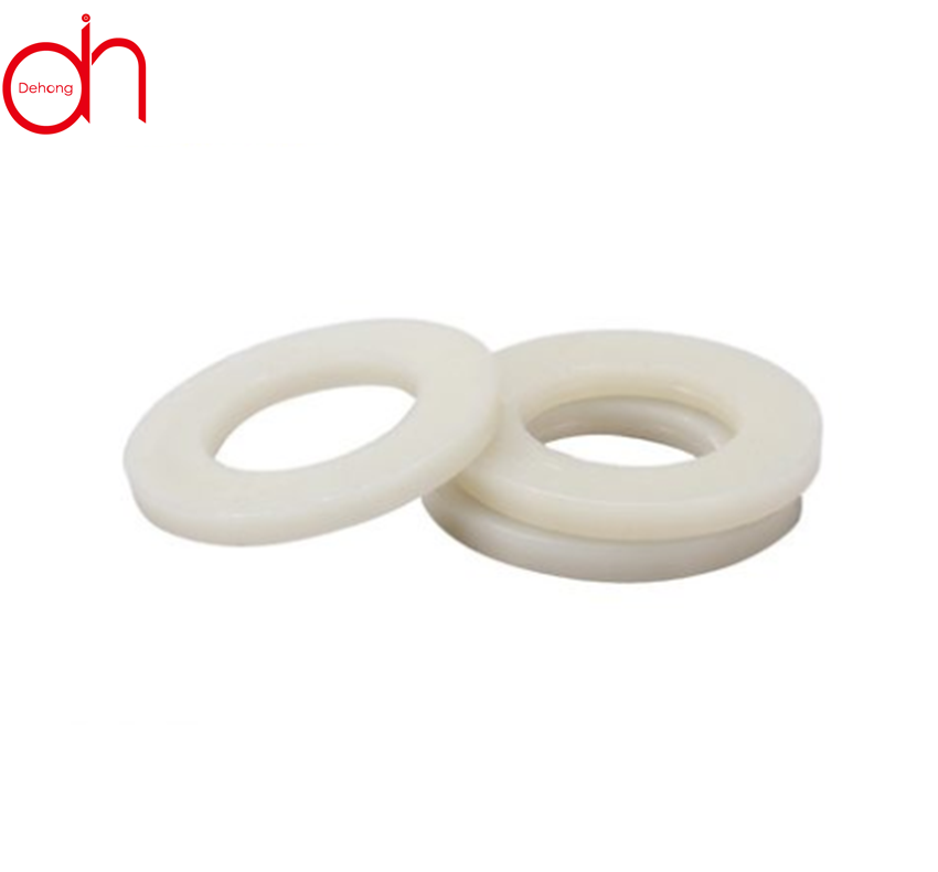 Black or white countersunk style flat plastic nylon washers for heavy industry