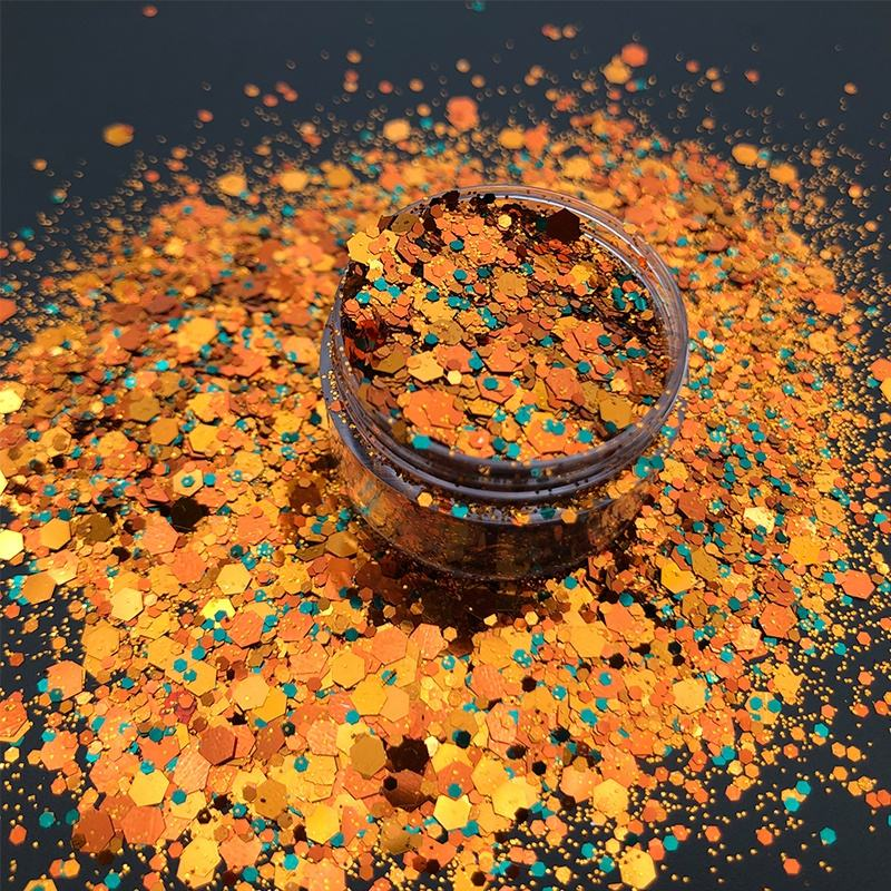 Poly Exclusive New Design Crazy Hot Sale Chunky Mixed Glitter for decoration