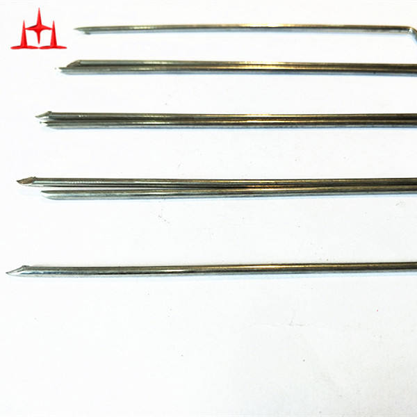 "6""x11Ga electric galvanized sod staples factory"