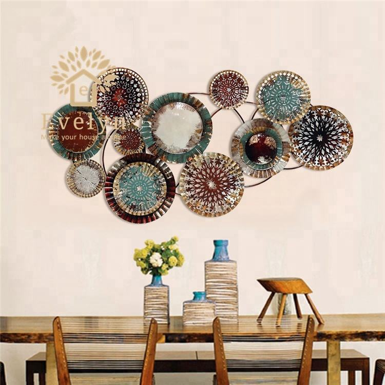 Other home decor festival antique handmade metal flower wall art for sale