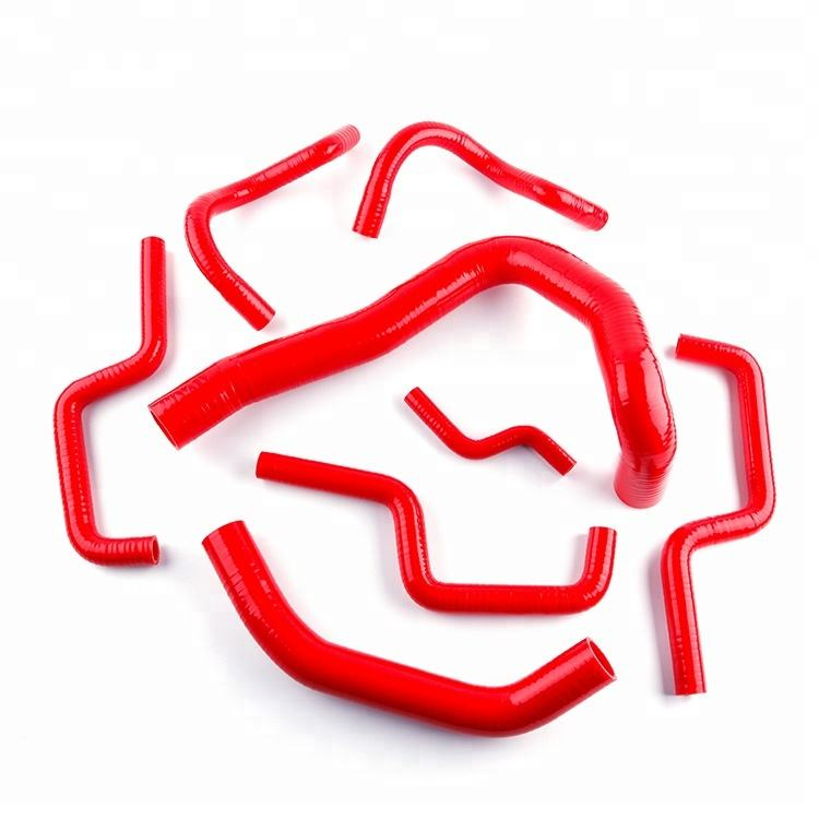 Red Silicone Radiator Coolant Hose for Holden Commodore VL 3.0L L6 RB30E/T 86-88
