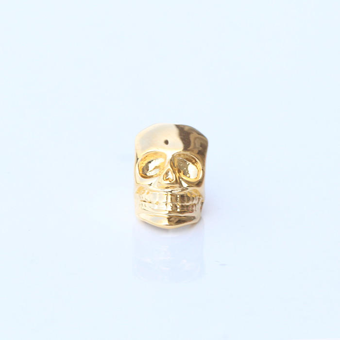 Miss Jewelry Sterling Silver Metal Skull Beads