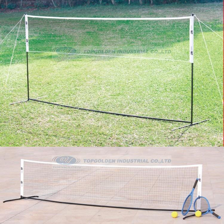 Badminton Net Stand, Portable Badminton net and Tennis net stand with Poles