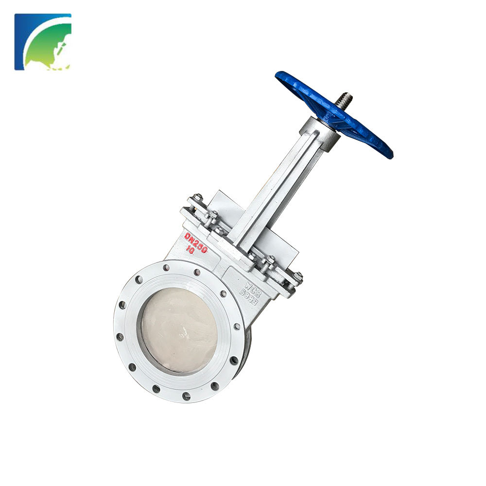 0 Leaking Resilient Seated 12 Flange Hole Knife Gate Valve With Competitive Price