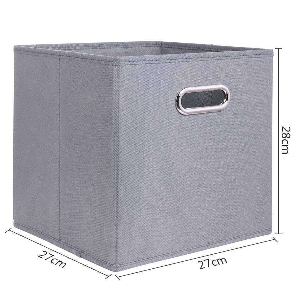 High quality custom foldable fabric non-woven home storage box with holder for cloth and shoe