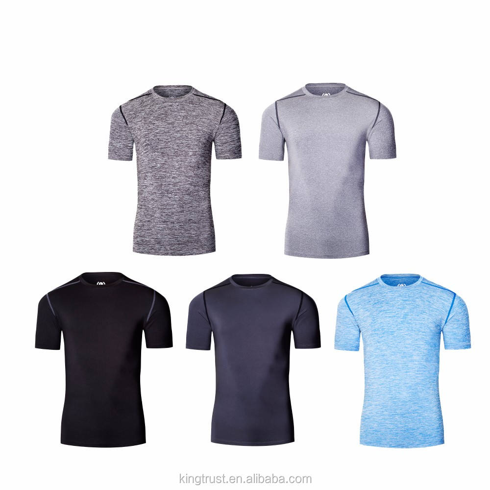 Quick Dry Compression Men's Short Sleeve T-Shirts Running Shirt Fitness Tight Tennis Soccer Jersey Gym Demix Sportswear