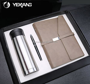 2018 Creatieve Lederen Notebook Geïsoleerde Mok Pen Corporate Gift Set