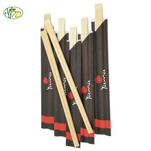 Custom Sleeve Wrapper Japanese Disposable Wooden / Bamboo Chopstick