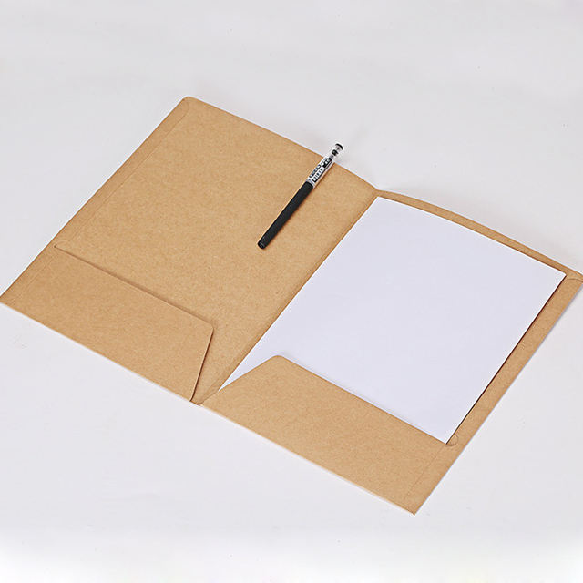 A4 expanding plain paper file with business card pocket file Folder For A4 file