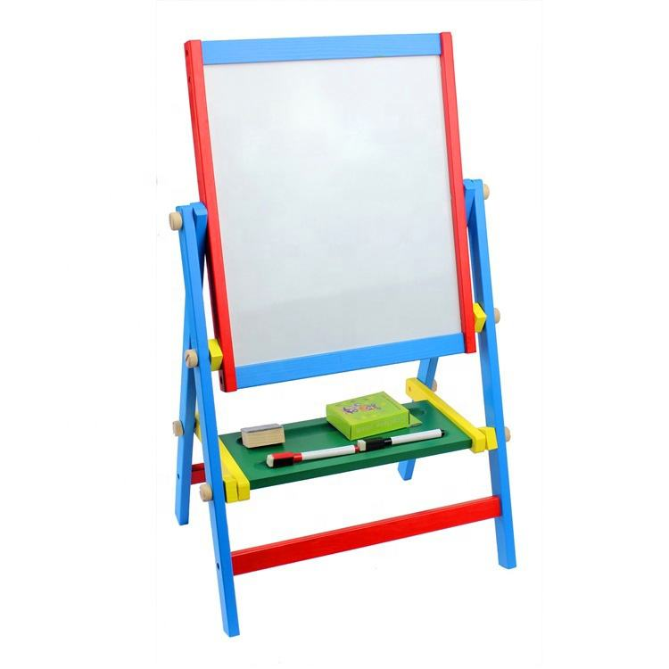 Wooden Writing Black White Easel Chalk Drawing Board with Accessories