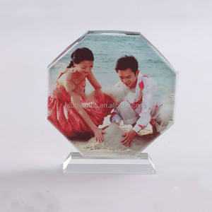Octagonal Screen Sublimation Crystal Blank for Wedding Souvenir