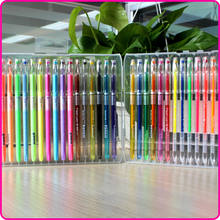 Factory supply rubberized Grip 12 24 48 60 120 Colors Best Rainbow metallic color Gel Pen