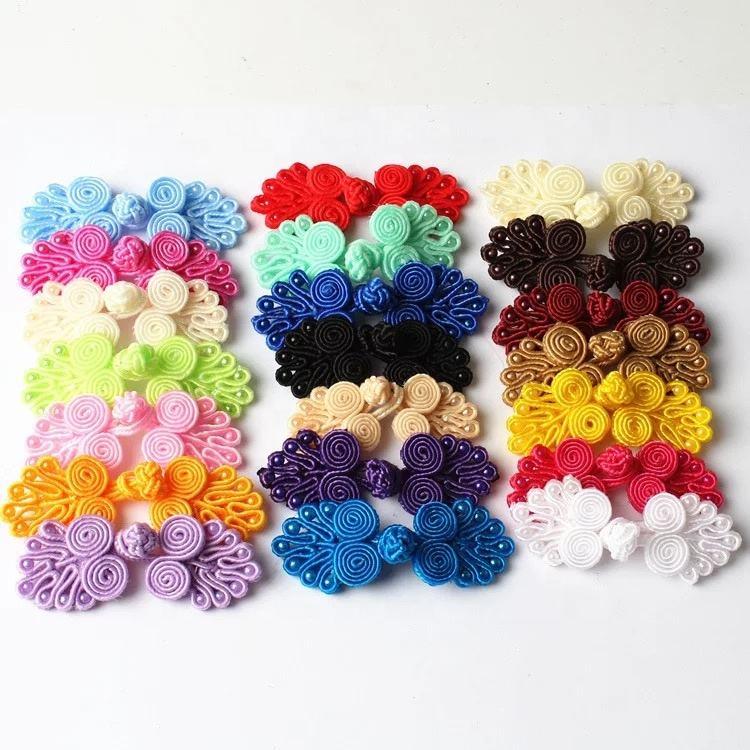 50 Pcs Trendy Chic DIY Handmade Accessories Crochet Ball Knots Chinese Buttons