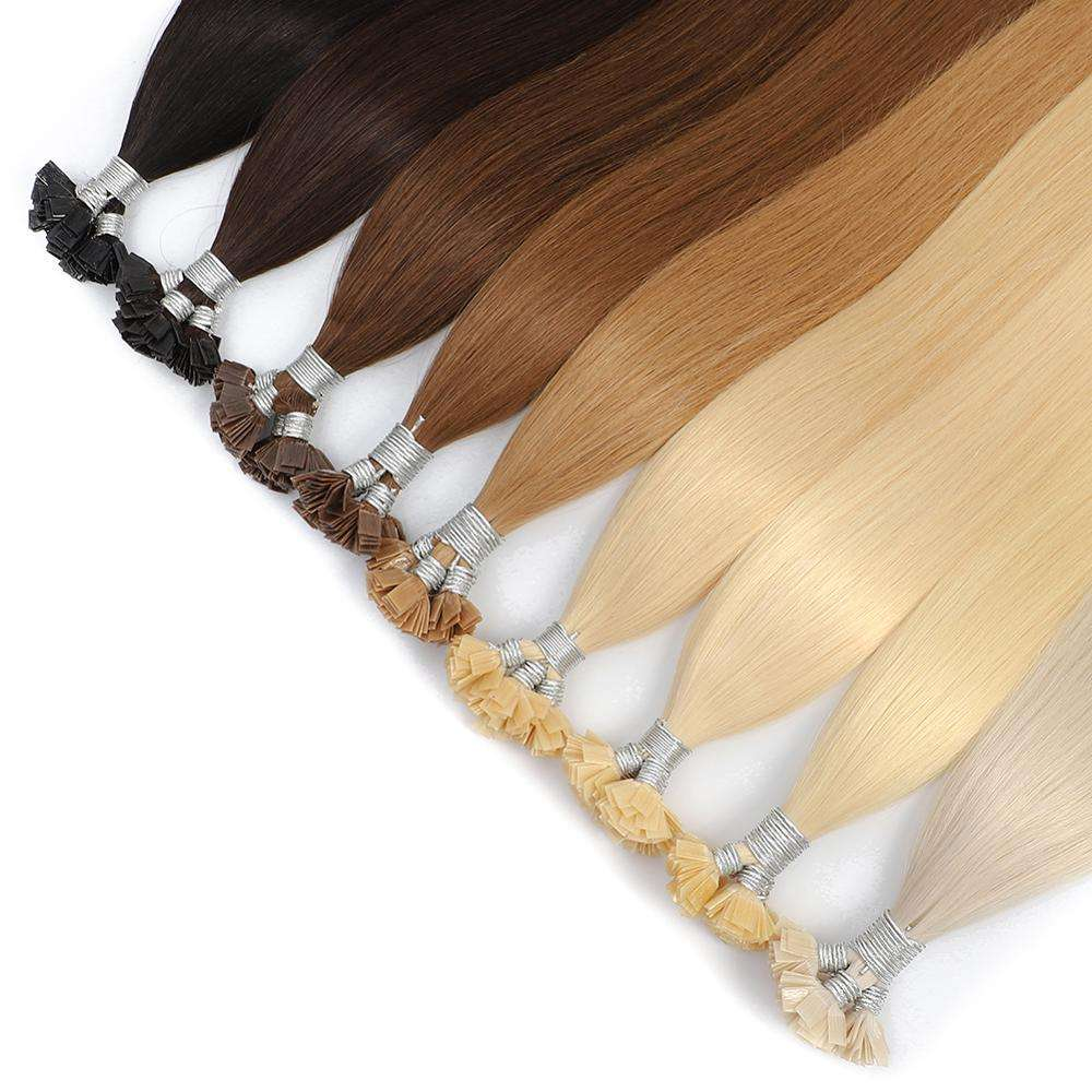 Prebonded Malaysian Remy Flat-Tip Hair Super Star Glue Hair Extensions Plus