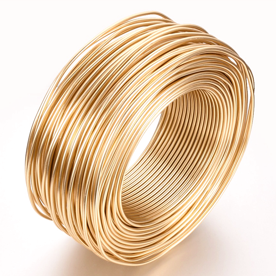 Metal Manufacturers Hot Sell Pale Gold Aluminum Handmade Wire